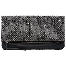 Buy French Connection Silva Clutch Bag, Black/White Online at johnlewis.com