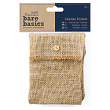 Buy Docrafts Hessian Pockets, Pack of 3 Online at johnlewis.com