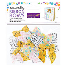 Buy Docrafts Bunk-doodling Ribbons Bows, Pack of 12 Online at johnlewis.com