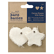 Buy Docrafts Star/Heart Canvas Shapes Online at johnlewis.com