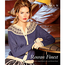 Buy Rowan Finest Knitting Pattern Booklet Online at johnlewis.com