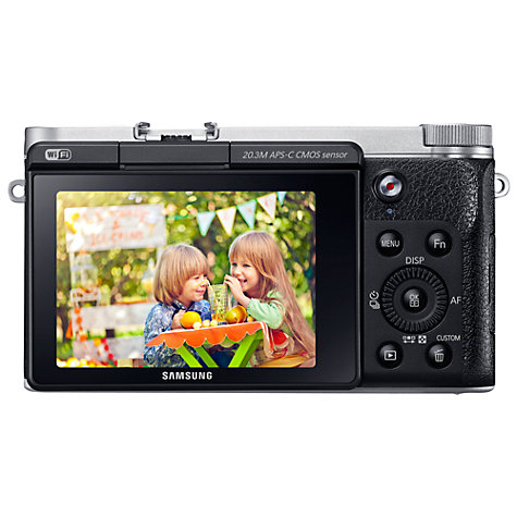"Buy Samsung Galaxy NX3000 Compact System Camera with 16-50mm Lens, HD 1080p, 20.3MP, Wi-Fi, NFC, 3"" Flip Screen Online at johnlewis.com"