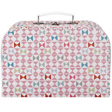 Buy RJB Stone Large Geometric Vintage Suitcase Sewing Basket Online at johnlewis.com