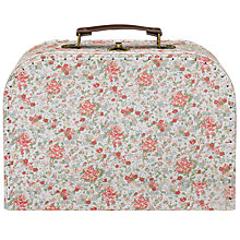 Buy RJB Stone, Floral Vintage Suitcase, Medium Online at johnlewis.com