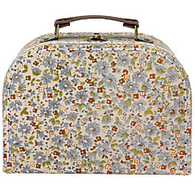 Buy RJB Stone, Floral Vintage Suitcase, Small Online at johnlewis.com