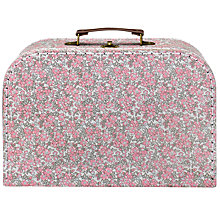 Buy RJB Stone Large Floral Vintage Suitcase Sewing Basket Online at johnlewis.com