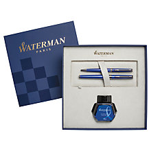 Buy Waterman Hemisphere Fountain Pen and Ballpoint Pen Set, Blue Online at johnlewis.com