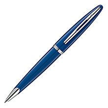 Buy Waterman Blue Obsession Carene Ballpoint, Blue Online at johnlewis.com