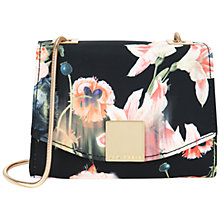Buy Ted Baker Keira Opulent Bloom Clasp Clutch Bag, Black Online at johnlewis.com