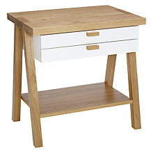 Buy John Lewis Work Pal, Oak and White Online at johnlewis.com