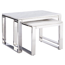 Buy John Lewis Frost Marble Nest of 2 Tables Online at johnlewis.com