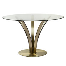 Buy John Lewis Moritz Dining Table, Antique Brass Online at johnlewis.com