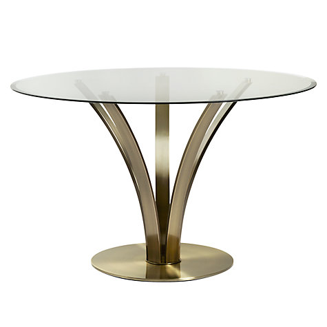 Buy John Lewis Moritz Glass Top Dining Table Antique Brass John Lewis