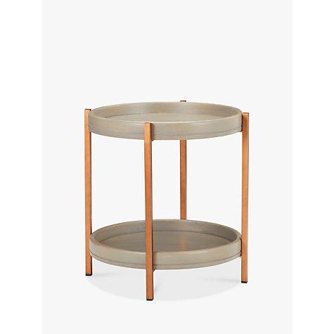 buy john lewis asha iron tray side table john lewis. Black Bedroom Furniture Sets. Home Design Ideas