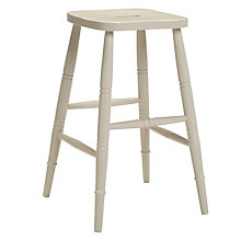 Buy John Lewis Croft Collection Cecile High Stool, Soft Grey Online at johnlewis.com
