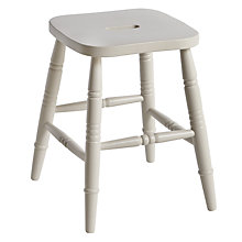 Buy John Lewis Croft Collection Cecile Low Stool, Soft Grey Online at johnlewis.com