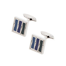 Buy BOSS Aron Cufflinks, Blue/Green Online at johnlewis.com