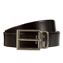 Buy BOSS Glenos Reversible Leather Belt, One Size, Black Online at johnlewis.com