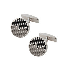 Buy BOSS Bass Brass Cufflinks, Black Online at johnlewis.com