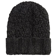 Buy JOHN LEWIS & Co. Made in England Double Moss Beanie, One Size, Charcoal Online at johnlewis.com