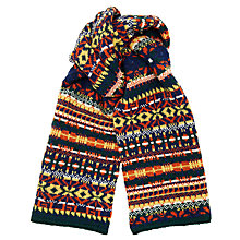 Buy JOHN LEWIS & Co. Fair Isle Knit British Wool Scarf, Multi Online at johnlewis.com