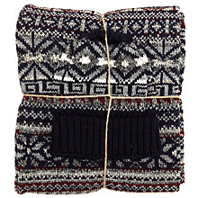 Buy JOHN LEWIS & Co. Fair Isle Scarf and Beanie Hat Bundle, Navy Online at johnlewis.com