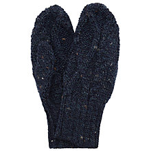 Buy JOHN LEWIS & Co. Made in England Cable Mittens, One Size, Denim Online at johnlewis.com