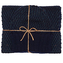 Buy JOHN LEWIS & Co. Made in England Birdseye Scarf and Hat Gift Set, One Size, Blue Online at johnlewis.com