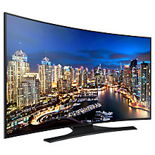 "Buy Samsung UE55H6800 Curved LED HD 1080p 3D Smart TV, 55"" with Freeview Online at johnlewis.com"