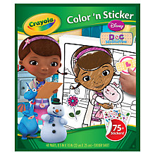 Buy Crayola Disney Doc McStuffins Color 'n' Sticker Book Online at johnlewis.com