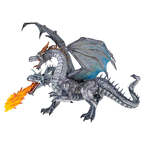 Buy Papo Figurines: Two-Headed Dragon, Silver Online at johnlewis.com