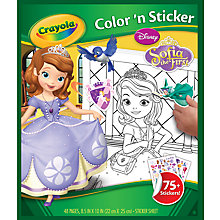 Buy Crayola Disney Princess Sophia Color 'n' Sticker Book Online at johnlewis.com