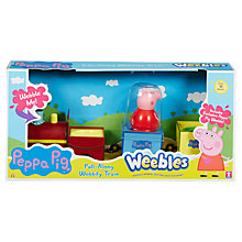 Buy Peppa Pig Weebles Pull-Along Wobbily Train Online at johnlewis.com