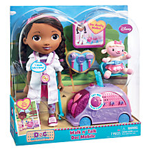 Buy Ravensburger Disney Doc McStuffins Walk 'n' Talk Doc Mobile Doll Online at johnlewis.com