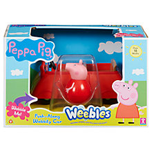 Buy Peppa Pig Weebles Push-Along Wobbily Car Online at johnlewis.com