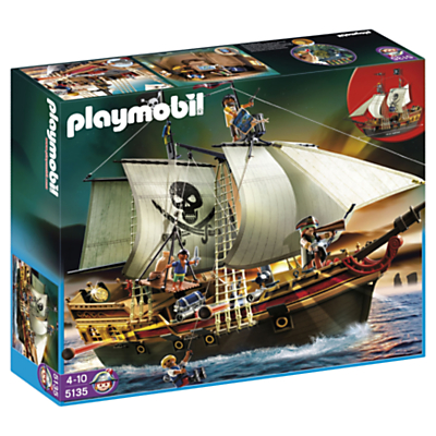 Click here for Playmobil Pirates Pirate Ship & Rowboat