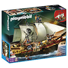 Buy Playmobil Pirates Pirate Ship & Rowboat Online at johnlewis.com