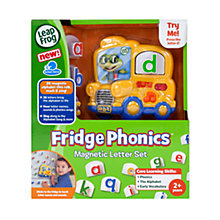Buy LeapFrog Fridge Phonics Magnetic Letter Set Online at johnlewis.com