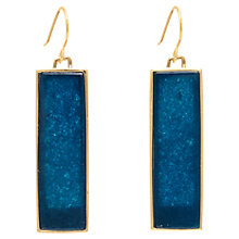 Buy Boutique by Lola Aurore Quartzine Drop Earrings, Gold / Blue Online at johnlewis.com