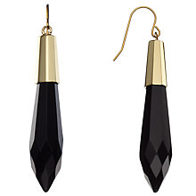 Buy Lola Rose Salma Agate Earrings, Gold/ Black Online at johnlewis.com