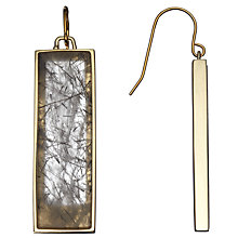 Buy Lola Rose Aurore Black Rutilated Quartz Earrings, Gold/ Black Online at johnlewis.com