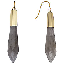 Buy Boutique by Lola Salma Black Rutilated Quartz Earrings, Gold / Grey Online at johnlewis.com