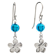 Buy Martick Sterling Silver Forget-me-not Glass Earrings, Turquoise Online at johnlewis.com