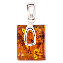 Buy Be-Jewelled Amber Rectangle Pendant, Cognac Online at johnlewis.com