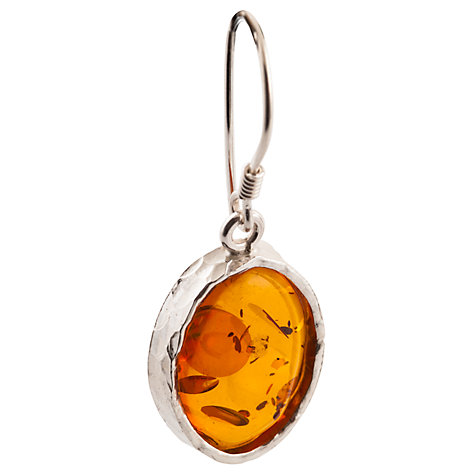 Buy Be-Jewelled Amber Oval Drop Earrings, Cognac Online at johnlewis.com