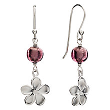 Buy Martick Forget-Me-Not Sterling Silver Murano Glass Drop Earrings, Silver Online at johnlewis.com