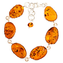 Buy Be-Jewelled Amber Semi-Oval Bracelet, Cognac Online at johnlewis.com