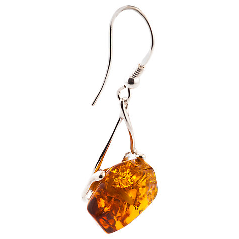 Buy Be-Jewelled Amber Facet Style Earrings, Cognac Online at johnlewis.com