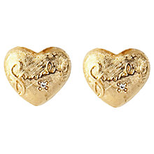 Buy Susan Caplan Vintage 1980s Givenchy Swarovski Crystal Heart Clip-On Earrings, Gold Online at johnlewis.com