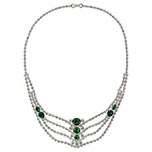Buy Susan Caplan Vintage 1970s Edwardian Style Austrian Crystal Necklace, Green Online at johnlewis.com